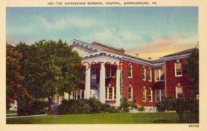 THE ROCKINGHAM MEMORIAL HOSPITAL, HARRISONBURG, VA. opened in 1912