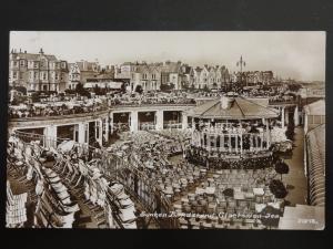 Essex CLACTON ON SEA Sunken Bandstand & THE GEISHA HOTEL c1930's RP Postcard