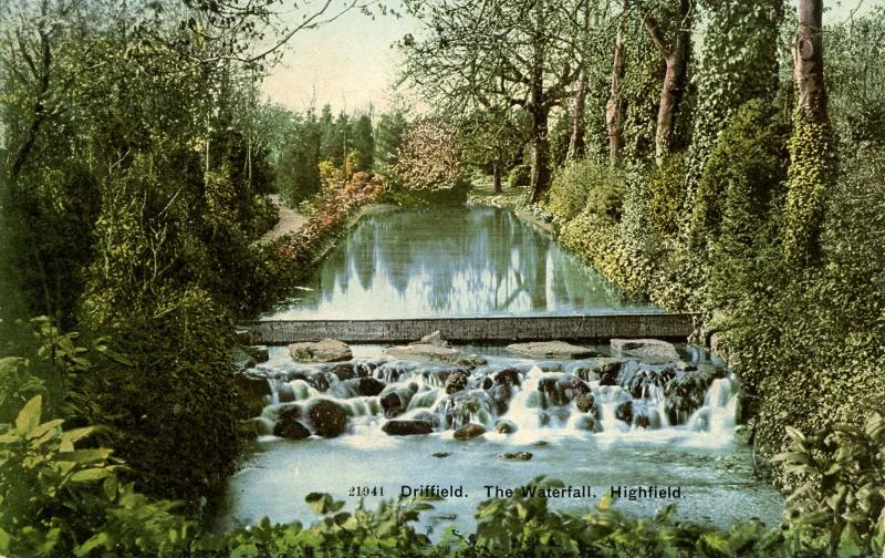 UK - England, Driffield. The Waterfall, Highfield.  *RPO- Groveland & Boston ...