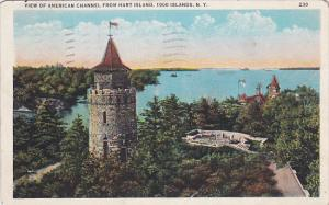 View of American Channel From Heart Island, THOUSAND ISLANDS, New York, PU-1936