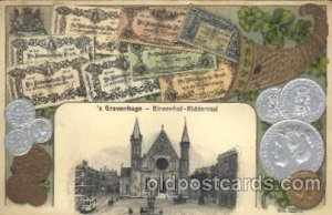 Netherlands Coin Postcard Post Card Netherl&s Unused