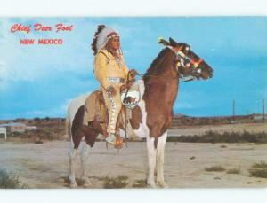 Pre-1980 APACHE NATIVE INDIAN CHIEF DEER FOOT State Of New Mexico NM E5719
