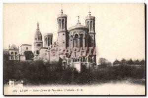 Lyon Old Postcard Notre Dame de Fourviere apse