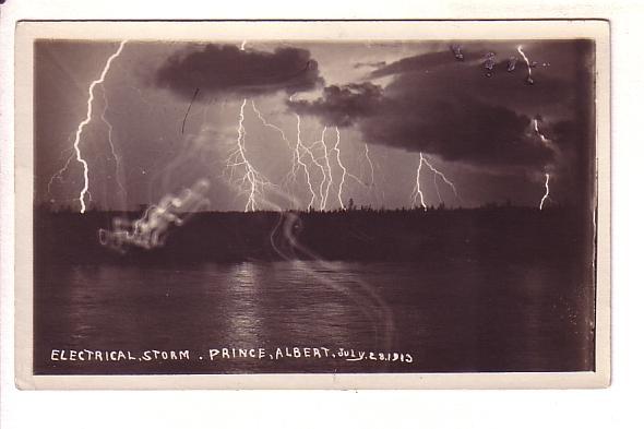 Real Photo, Electrical Storm, Lightning, Prince Albert, Saskatchewan, AZO Rea...