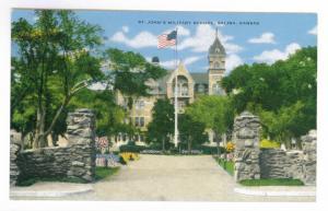 St. John's Military School, Salina, Kansas unused Kropp Linen Postcard