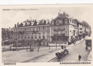 SAVERNE (Bas Rhin), France, 1910-1920s; Place Du Chateau Et Grand'Rue
