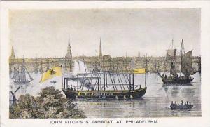 John Fitch's Steamboat at Philadelphia, Pennsylvania,   00-10s
