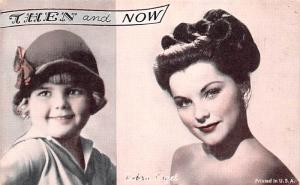 Then and Now, Debra Paget Actor Mutoscope Unused