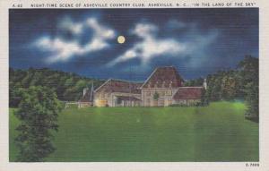 Asheville Golf Country Club at Night - Asheville NC, North Carolina - Linen