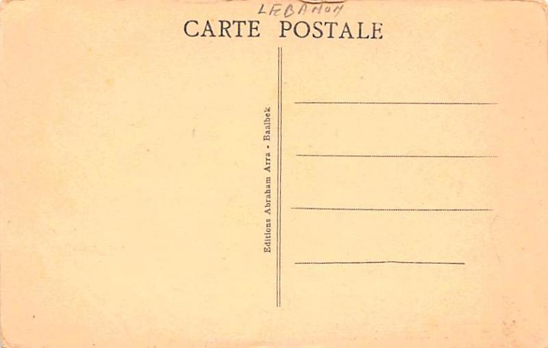 Baalbek, Lebanon Postcard, Carte Postale Le Temple de Bacchus - Chapiteaux et...
