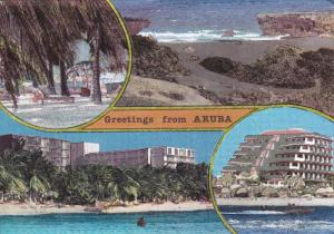 4-Views, Hotels On the Beach, Greetings From Aruba, Antilles, 50-70´s