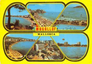 Vintage Spain Majorca Mallorca Postcard, Magalluf 1980 Multi View #523