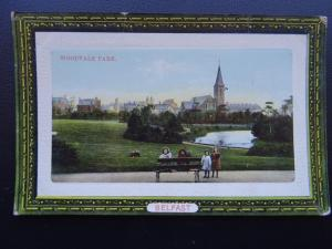 N. Ireland BELFAST Woodvale Park shows Children on Park Bench c1910 Postcard