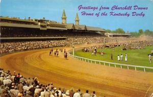 Louisville, KY, USA Kentucky Derby, Churchill Downs Horse Racing Postcard unused