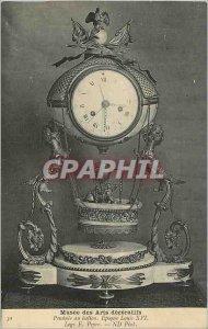Old Postcard Musee des Arts Decoratifs Pendulum Ballon Louis XVI Legs Peyre