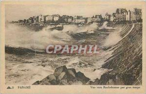 Old Postcard Parame View to Rochebonne heavy weather