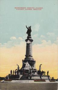CIUDAD JUAREZ, Mexico, 1900-1910's; Monumento Benito Juarez