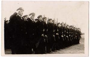 Soldiers ? with Rifles, Naval Style Hats