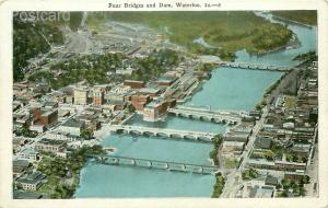 IA, Waterloo, Iowa, Four Bridges and Dam, E.C. Kropp No. 5339 N