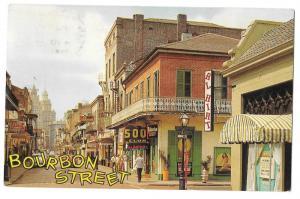 LA New Orleans Bourbon Street Al Hirt Vtg Crocker Postcard