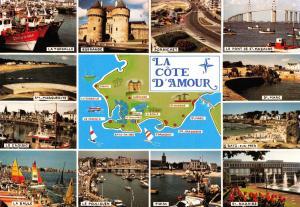 Postcard Map & Multiview La Cote D'Amour, France #426
