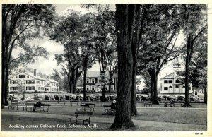 Lebanon,  New Hampshire - Looking across Colburn Park - in 1947