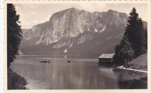 Austria Pliausseersee mit Trisselwand Real Photo