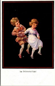 IM DREIVIERTEL TAKT  GERMAN DANCING - Postcard Old Vintage Card View Standard PC