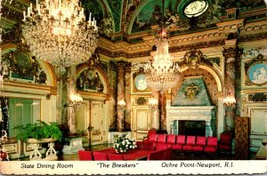 Rhode Island Newport Ochre Point The Breakers State Dining Room 1976