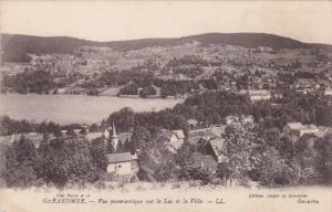 GERARDMER, Vosges, France, 1900-1910's; Vue Panoramique Sur Le Lac Et La Ville