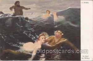Artist Bocklin, Mermaid, Mermaids Postcard Postcards  Artist Bocklin