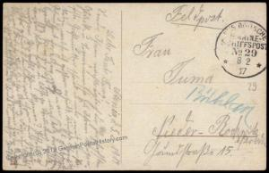 Germany WWI 1917 Turkey Navy MSP29 SMS Goeben Marineschiffspost Feldpost C 71402