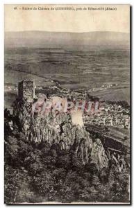 Pres Ribeauville - Ruins of Castle - Giersberg Old Postcard