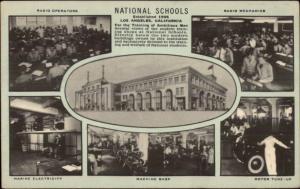 Los Angeles CA National Schools Trade School Multi-View Postcard