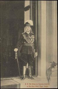 siam thailand, King Rama VI Vajiravudh in Uniform Hon. Wild Tiger Corps (1910s)