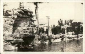 Miami Coral Gables FL Venetian Pool 1929 Used Real Photo Postcard