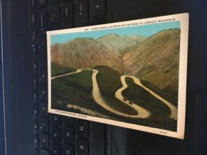 Vintage Postcard; Famous Double Hairpins on the Road to Lookout Mountain