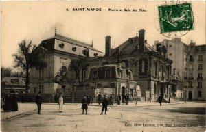CPA AK St-MANDÉ Mairie et Salle des Fetes (672440)