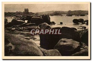 Ploumanach Old Postcard the inner bay