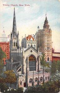 Trinity Church New York City 1910s postcard