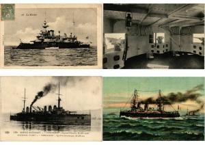 WARSHIPS NAVY MILITARY FRANCE 280 Cartes Postales Pre-1940 (L3418)