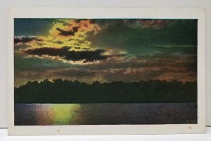 Art Series 1029 Sun Set Sun Rise on the Water 20789 Postcard A7