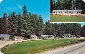 Little River Motel St. Regis Montana MT Chrome Postcard