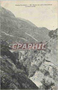 Old Postcard Hautes Pyrenees Luz Road Bridge has Gavarnie Sia