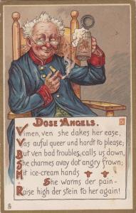TUCK #129; To Vimmins Fair, Dose Angels Poem, Old man & Beer stein,00-10s