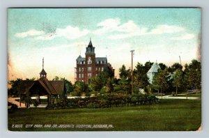 Reading PA-Pennsylvania, St. Joseph's Hospital & Park, Vintage c1908 Postcard