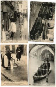FRANCE FLOODS, INDONATIONS 1910, FRANCE 300 CPA