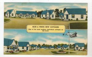 1937  FL St.Augustine   Blue and  White Cottages  Motel