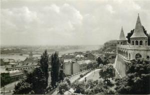 Hungary Budapest Budai latkep 1965