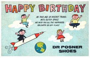 9349 New York  Delmar Shoes Dr.Posner Shoes Happy Birthday Rocket outer Space